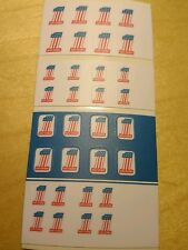 """EVEL KNIEVEL"" STUNT CYCLE  #1 number stickers"