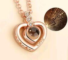 Collana TI AMO 100 lingue Ciondolo Proiezione I LOVE YOU (color oro/argento)