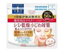 KOSE Clear Turn Medicated Whitening Skin White Face Mask 50 Sheets