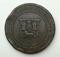 Undated - Copper Coin - Two Penny Token - Norfolk - Norwich - Robert Blake