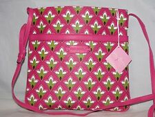 NWT Vera Bradley Slim & Trim Hipster Coated Canvas Cross-body in Petite Pink
