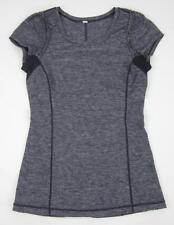 Lululemon Run: Full Tilt Short Sleeve Shirt Heathered Dark Purple Size 6