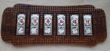 China 2010 6 x 20g Colorized Silver Bars / Medals - Lunar Year of the Tiger