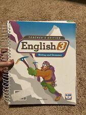 BJU English 3: Writing & Grammar, Teacher's Edition, 2nd Edition w/CD-ROM