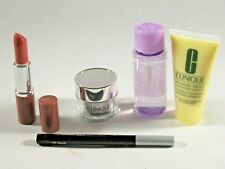 Clinique Lipstick, Liquid Eyeliner, Cream Mask, Moisturizer, Makeup Remover