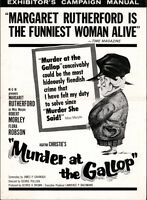 MURDER AT THE GALLOP pressbook, Margaret Rutherford, Flora Robson MISS MARPLE