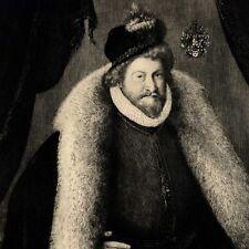 Christophe Amberger Portrait d'un gentilhomme allemand Gravure 19e Lucas
