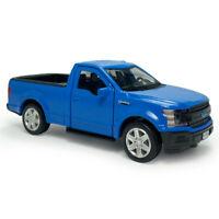 1:36 Ford F-150 Pickup Truck Model Car Diecast Toy Vehicle Kids Matte Blue