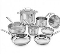 Cuisinart® Chef's Classic Pro 11-Piece Cookware Set in Stainless Steel