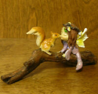 Top Collection Enchanted Story Fairy Garden #4079 LITTLE FAIRY KISSING SQUIRREL