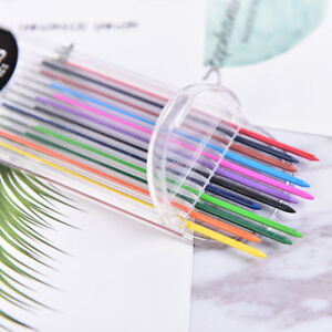 2.0mm 2B Colored Pencil Lead 2mm Mechanical Clutch Refill Holder 12 Color Set TH