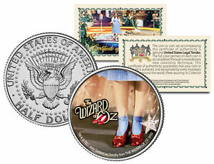 """Wizard of Oz """"Ruby Red Slippers"""" Kennedy Half Dollar US Coin Officially Licensed"""