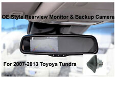 Backup Camera & Rear View Mirror Monitor 4.3 inch for Toyota Tundra 2007 - 2013