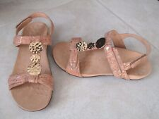 NEW Vionic Farra Natural Tan Cork Embellished Back Strap Sandals WOMENS SZ 7.5