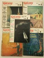 9 x Vintage Galaxy Science Fiction Pulp Magazine No 80 - 92