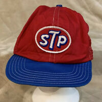 VTG STP Patch Adult OSFA Red Mesh Trucker Snapback Hat Cap Auto Car Racing Petty