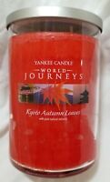 Yankee Candle KYOTO AUTUMN LEAVES World Journeys Large Jar 22 Oz New Red 2 wick
