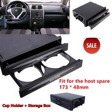 Universal Car auto Double Din Radio Pocket Kit + Drink Cup Holder+Storage Box zn