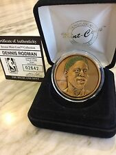 Dennis Rodman Green Hair Highland Mint One Troy Ounce Bronze Coin 02642 Of 12500