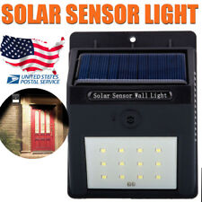 Outdoor 12 LED Solar Wall Light Power PIR Motion Sensor Garden Lamp Waterproof