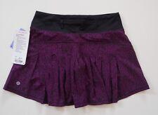 NWT Lululemon Circuit Breaker Skirt Sz 4 Tall Aurora Black Skorts Tennis, Dress