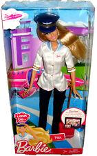 Barbie I Can Be Airplane Pilot Doll Figure MIB Mattel Toy R4226  W3739