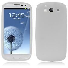 KIT N°2 PELLICOLE +COVER SILICONE SAMSUNG GALAXY S3 ULTRA SLIM GT i9300 BIANCO