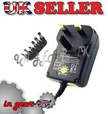 1500mA AC/DC mains plug adapter DC power supply  3v 4.5v 6v 7.5v 9v 12v 3 pin