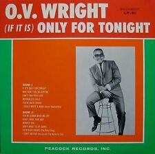 O.V. WRIGHT (If It Is) Only For Tonight BACKBEAT RECORDS Sealed Vinyl Record LP