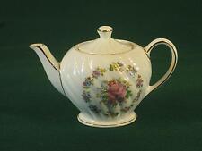 Gorgeous Antique Tea Pot~ SADLER ENGLAND ~Roses and GOLD~ Fine Bone China