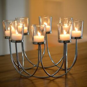 Beautiful Tea Light Glass Candle Holder Wedding Christmas Table Centrepiece