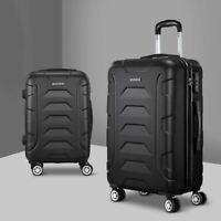 Wanderlite 2PCS Carry On Luggage Sets Suitcase TSA Travel Hard Case Lightweight