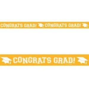 Graduation School Bus Yellow 30-Foot Crepe Streamer Yellow Grad Decorations