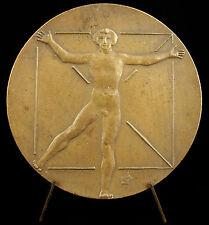 Médaille polonaise Polska Poznan Posen Pologne c1978 homme nu naked man medal