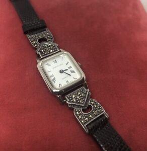 Judith Jack Sterling Silver Lizard Skin Bracelet Watch 925