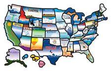 Cci Permanent State Usa Map Sticker Us Rv Camper  Motorhome Trailer License New