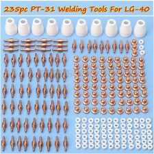 235pc PT-31 LG-40 Air Plasma Cutter Consumable Tips Electrode For CUT-50D CT-312