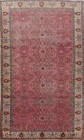 Antique Vegetable Dye Floral Anatolian Turkish Area Rug Hand-knotted 7x10 Carpet