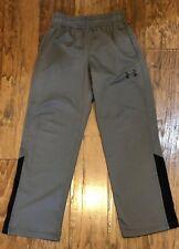 Under Armour Boys Size X-Small Yxs Grey Dri-fit Athletic Pants Sweatpants Loose