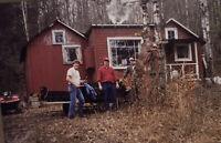 Vintage Photo Slide 1986 Deer Camp Hunters Graphic New York