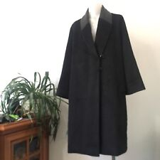 Max Mara Alpaca Wool And Leather Collar Coat, Size IT44, Excellent Condition