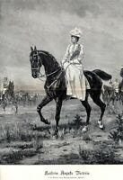 Kaiserin Auguste Victoria zu Pferd XXL 1896 Kunstdruck von Conrad Freyberg