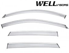 WellVisors For 17-Up Mazda CX-5 CHROME TRIM Side Vents Window Visors Rain Guard