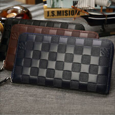 Men's Luxury leather Long Large Capacity Wallet ID Card Credit Card Phone Holder