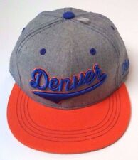 Aksels Hat Denver Colorado Broncos Snapback Men Trucker Hat Blue Orange Football