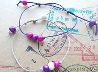 Cord Slider Bracelet Friendship Hippie String Surfer Bead Boho Rope Festival