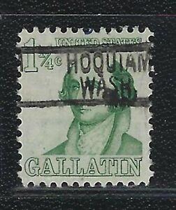 Precancels - WA - Hoquiam - 1279-819 - 1¼¢ Prominent American - nice type