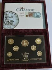 1996 United Kingdom Silver Proof Anniversary Collection 7 Coin Set