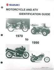 1970 -1990 Suzuki Motorcycle Atv Identification Guide : 99923-12901