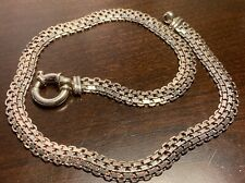 Beautiful Silver Tone Necklace Toggle Clasp Marked 925 But Failed Acid Test 16In